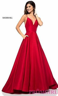 Sherri Hill prom dresses are hip, stylish and sure to turn heads at prom. PreVue has one of the largest selections of Sherri Hill prom gowns in many different styles and sizes! Ivory Prom Dresses, Sherri Hill Prom Dresses, V Neck Prom Dresses, Grad Dresses, Homecoming Dresses, Evening Dresses, Short Dresses, Dress Prom, Sherri Hill Red Dress