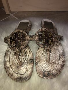 b66e34c5668a Tory Burch Miller 2 Snake Print Sandal 7M  fashion  clothing  shoes   accessories