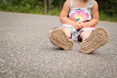 Crochet Pattern  Jute Soles in 14 sizes Toddler up to by Mamachee