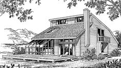 Shed House Plan with 1732 Square Feet and 3 Bedrooms from Dream Home Source | House Plan Code DHSW73100