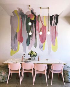 This is a great paint idea. Much more fluid than geometric colours bring painted | Mister Hoffman