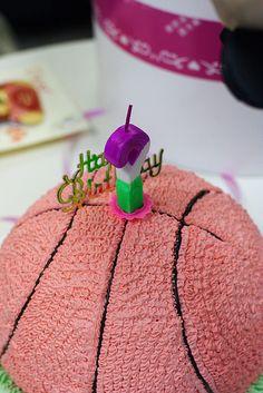 girly basketball cake