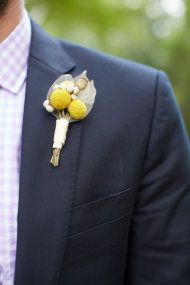 Whimsical Yellow Boutonniere