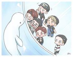 exo travel the world Kpop Exo, Suho Exo, Kpop Drawings, Cute Drawings, Exo Fanart, Chanbaek Fanart, Exo Cartoon, Cartoon Art, Chibi