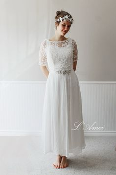 Exquisite1970's Paris Inspired Ivory White Vintage-Style by LAmei