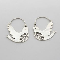 silver bird earrings by Naomi Murrell