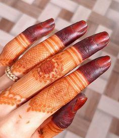 Latest Finger Mehndi Designs, Mehndi Designs For Fingers, Best Mehndi Designs, Fingers Design, Bridal Mehndi Designs, Mehndi Desing, Mehndi Design Photos, Floral Henna Designs, Red Henna