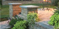 Retaining Walls and patio stones with Belgard products