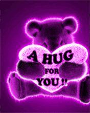 I Love You gif by Cute_Stuff Hugs And Kisses Quotes, Hug Quotes, Kissing Quotes, Hug Images, Love You Images, I Love You Gifs, Purple Love, All Things Purple, Purple Stuff