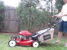 Great video that shows how easy an electric start mower is to start and use. Taking most of the work out of mowing the yard. Easy Start, Great Videos, Lawn Mower, Electric, Yard, Lawn Edger, Patio, Grass Cutter, Courtyards