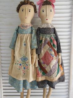Handmade by L.A. Lacy....country style dolls with recycled linens.