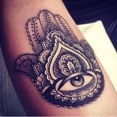 Black and white tattoo