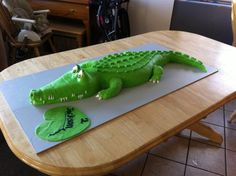 crocodile+cake | Here is some perspective, The board it was on was 4ft long...so, ya ...