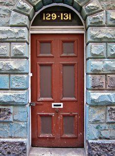 Painted wood #door in #Melbourne, #Australia