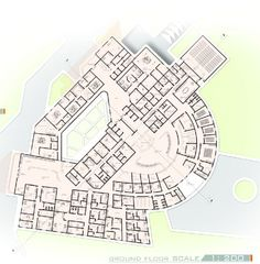 Ground Floor Plan Of Graduation Projects Varsity And Educational Hospital