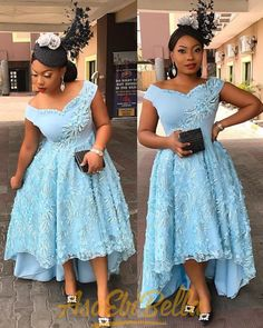 Vol Try Trendy New Aso-Ebi Style for curvy ladies 2020 African Bridesmaid Dresses, Short African Dresses, African Lace Styles, Latest African Fashion Dresses, African Print Dresses, African Print Fashion, Cheap Evening Dresses, Elegant Dresses, Elegant Gown