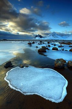 """Thousands have lived without love; none without water."" W.H. Auden (Vesturhorn, Iceland.)"