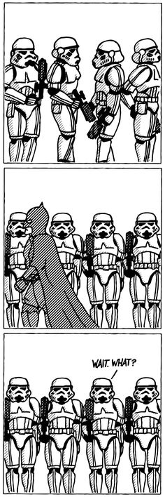Attention!  How Batman moves around the Death Star without any trouble.