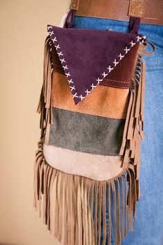 native leather hip pouch