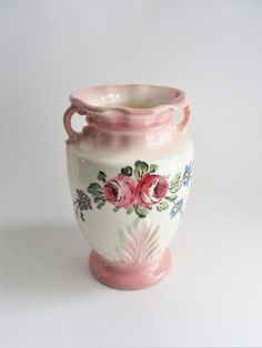 Purposeful Fenton Basket Vasa Murrhina Rose Pink Green Basket Art Glass