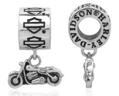 Harley-Davidson® MOD® Bar and Shield with Dangle Motorcycle Ride Bead Pandora Beads, Pandora Jewelry, Pandora Charms, Harley Davidson Jewelry, Harley Davidson Art, Harley Gear, Biker Chic, Sterling Silver Charm Bracelet, Best Diamond