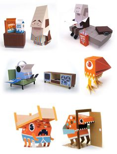 Free Papertoys by Marshall Alexander