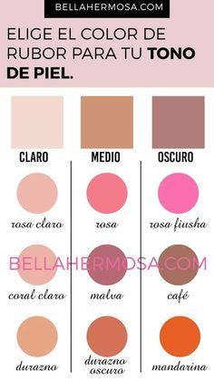 Guía para Elegir el Color de Rubor Según el Tono de Piel