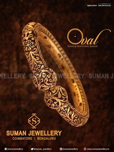 Wear the purest form of blessings around your wrist and get mesmerized with the amazing designs of gold. Gold Bangles Design, Gold Jewellery Design, Silver Bangles, Gold Jewelry, Jewelery, Silver Rings, Girls Jewelry Box, Schmuck Design, Antique Jewelry