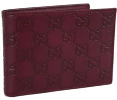 New Gucci Men's 292534 Wine GG Guccissima Leather w Coin Large Bifold Wallet | eBay