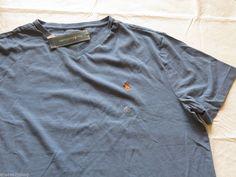 Men's Polo Ralph Lauren T shirt v neck  logo soft L large carryover NEW 0473945 #PoloRalphLauren #BasicTeeVneck