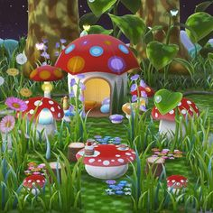 I'm so happy with my lil mushroom tea garden! 😍 I wasn't sure what to do with the other side, so I just covered it in flowers. 🌷🌻🌼🌹🏵️ . . .…