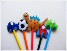 cute...felt pencil toppers