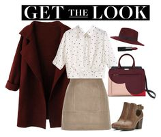 """""""192."""" by natlik ❤ liked on Polyvore featuring River Island, Miss Selfridge, NARS Cosmetics, skirt, everydaylook, falloutfit and coolcoat"""