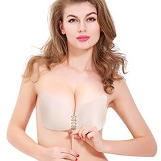 ca811eed7c PrettyQueen Strapless Bras for Women Wing Shaped Self Adhesive Push Up  Silicon Bras Backless Bra