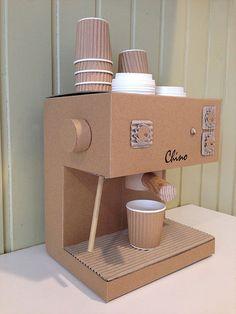 CARDBOARD CAPPUCCINO MACHINE | DIY Cardboard Costumes - Zygote Brown Designs