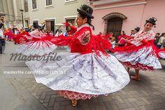 Dancers at Religious Festival Procession, Lima, Peru