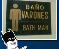 ¿El baño de Batman?