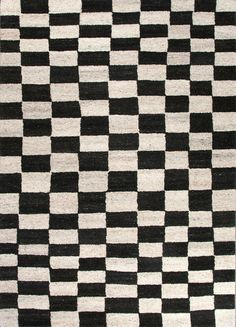 Chess Rug - Black & Cream