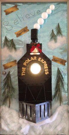 Polar Express decorated door