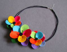 Necklace with flower from Ifffka
