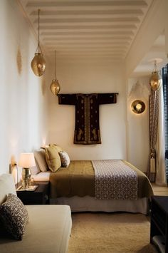Riad Adore - Honestly WTF - - Nestled in one of the oldest neighborhoods of Marrakech, near the Medina, is Riad Adore. From the greyish blue metal and woodwork to the classic Moroccan architecture, this restored riad is filled with…. Moroccan Interiors, Moroccan Decor, Moroccan Design, Moroccan Style, Moroccan Bedroom, Moroccan Lanterns, Le Riad, Riad Marrakech, Marrakesh