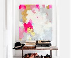 36 x 60 Large toile Art Amanda Faubus par AmandaFaubusDesign