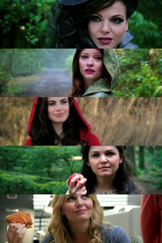 Once Upon A Time, Evil Queen, Belle, Little Red Riding Hood, Snow White & Emma