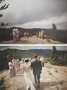 one of the coolest weddings. on a mountain top with closest family and friends