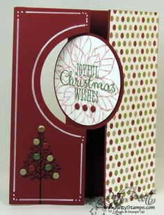 Thinlit circle card christmas 2