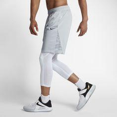 "Nike Men's 9"" Basketball Shorts Size Medium (Silver)"
