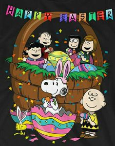 Charlie Brown Snoopy & The Peanuts Gang - Easter Charlie Brown Easter, Charlie Brown Y Snoopy, Peanuts Cartoon, Peanuts Snoopy, Ostern Wallpaper, Snoopy Und Woodstock, Snoopy Quotes, Easter Pictures, Happy Easter Sayings