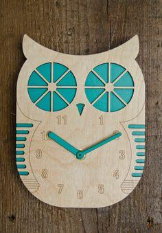 Billy Owl Modern Wall Clock - Home