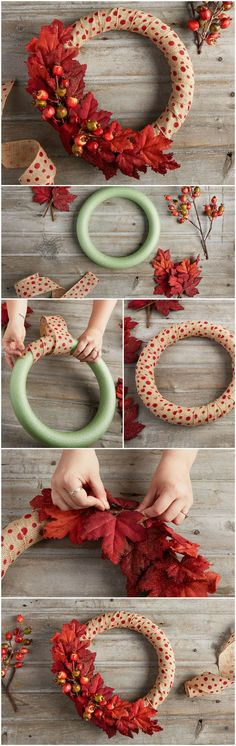 DIY a dramatic and darling fall wreath to celebrate the approach of autumn on your door or mantle!