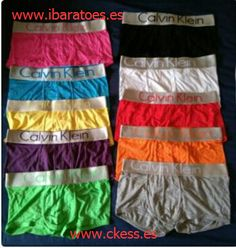 camisetas8@hotmail.com vender Calzoncillos calvin klein baratos 100 piezas,€3.26/pieza